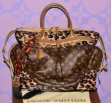 LOUIS VUITTON Sprouse Monogram STEAMER Snakeskin Leopard Pony Travel Bag LIMITED