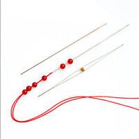 Useful 5x Metal Beading Needles Big Eye Curved Easy Thread Jewellery Craft DIY