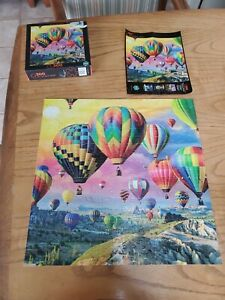 Up, Up, and Away 300 Large Piece Puzzle Used Complete Buffalo Games Balloons