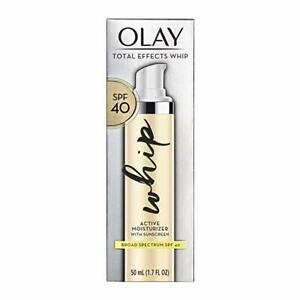 Olay Total Effects Whip Face Moisturizer SPF 40 EXP 06/2021 (1.7 FL Oz)