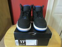 JORDAN Air Retro 1 (654140-007) Black Blue Red & White Men's Sneakers SIZE 11.5