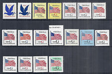 1994-1995 US Complete G Rate Set of 18 - 2877-2893 Coils, Booklets, Perfs MNH*