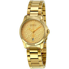 Gucci G-Timeless Light Yellow Gold PVD Steel Ladies Watch YA126553