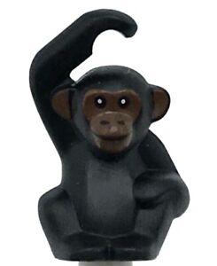 Lego New Black Chimpanzee with Reddish Brown Face Pattern Animal Monkey