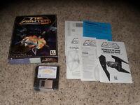"Star Wars Tie Fighter & Defender of the Empire 3.5"" floppy disks PC CIB"