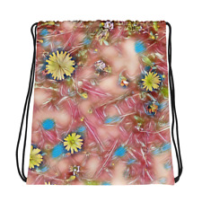 Drawstring Bag Dandelion Photo Art Flower Tote Gym School Bag Abstract