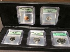 1964 Proof Set ICG Graded PR70 In Case Half Dollar Quarter Dime Nickel Penny