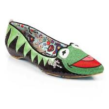 Irregular Choice Muppets Kermit The Frog Green Black Flat Shoes Disney Apparel 5 UK