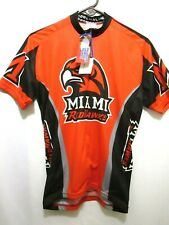 NWT MIAMI UNIVERSITY REDHAWKS OXFORD OHIO CYCLING JERSEY RARE MEN'S MEDIUM/M NEW