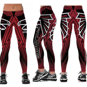 Atlanta Falcons Women Legging Digital Printed High Waist Wide Belt Yoga Pants