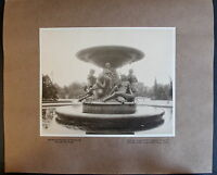 Fotografie Brunnen am Albertplatz 1908 Sachsen Ansicht Foto Dresden xz