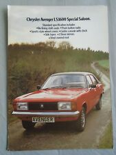 Chrysler Avenger LS1600 Special Saloon brochure May 1979