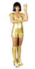 Spacegirl Kostüm Gold Damen Show Disco Weltall Glitzer Metallic Anzug %SALE%