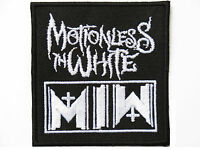 """MOTIONLESS IN WHITE MIW Iron On Sew On Metal Band Embroidered Patch 3"""""""