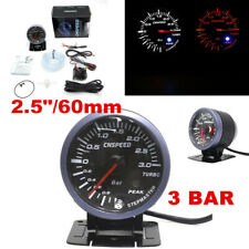 "2.5""/60mm Turbo Boost Gauge Amber White & Amber Lights Black Face Auto Meter"