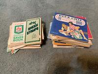 Huge Lot Blue Chip Stamps Savings Books Green Stamps Books Vintage