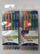 Glitter Gel Pen Medium Point Neon Metallic Colors 2 Packs lot 6 Pens Each