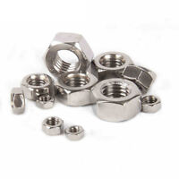 5-20PCS 304 Stainless Steel Size M8 - M24 Thin Hex Nuts Left Hand Fine Thread
