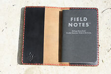 Handmade Leather Case Cover Simple Field Notes Moleskine Chromexcel Black Red