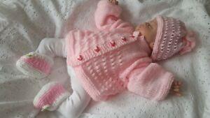 Reborn /Baby Ausfahrgarnitur* Jäckchen mit Mützchen GR.50*56*62