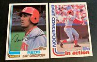 1982 Topps Baseball #660 and #661 Dave Concepcion - Reds