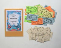 Teacher Made Math Center Educational Learning Resource Game Subtraction Facts