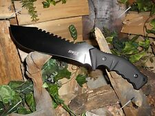 Knife/Bowie/Cleaver/Combat Machete/Full tang/5MM/Hunting/Camping/Survival/BK