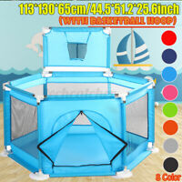 Safety Play Center Baby Playpen Ocean Ball Pit Pool Kids Fence Yard In/Outdoor
