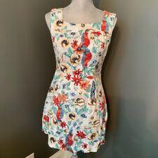 Derek Heart Floral Cotton Dress - Size Medium