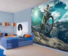 Cool extreme sports mountain biking bike track wallpaper wall mural (50688316)