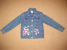 Girls Disney Princess Blue Denim Jacket Size 7