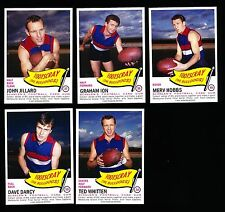 1966 Scanlens Archives Footscray team set 10 cards Ted Whitten