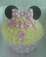 SILICONE MOULD MINNIE MOUSE BOW BIRTHDAY WEDDING GIANT CUPCAKE ICING CAKE TOPPER