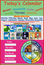 laminated today's calendar calandar calender educational school kids poster wall