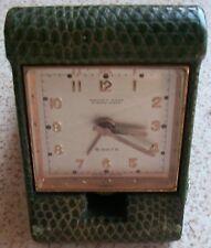 Mappin & Webb 8 Day's Travel alarm clock 57 mm. x 86 mm. x 24 mm. aside running