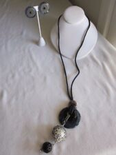 Sodalite & Onyx Necklace wuth Matching Earrings