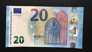 20 EURO BANKNOTE 2015 UNC P-22U Prefix-UA FRANCE SIGN DRAGHI