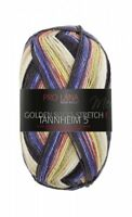 Tannheim 5 4-fach Pro Lana Sockenwolle Stretch blau beige Golden Socks