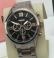 Men's Fossil Flynn Chronograph Brown Sable Black Rose Gold-Tone Watch BQ2377