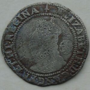 1582 Elizabeth I Sixpence Hammered Tudor Coin, mm Sword 26mm 2.57g