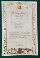 Antique Royal Wedding Choral Sheet Prince Wales King Edward VII Queen Alexandra