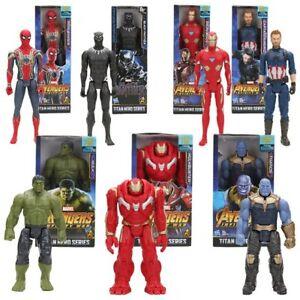 Marvel Figurine Avengers 30 cm Heros Thanos Hulk Venom Spiderman *French Seller*