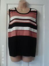 BLACK AND PINK TOP, SIZE 16