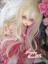 Bjd Doll Wig 1/3 8-9 Dal Pullip  DZ AE SD DOD LUTS Dollfie pink Toy Hair