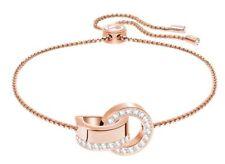 Swarovski Hollow Bracelet, Circles ROS White Crystal Authentic MIB 5368040