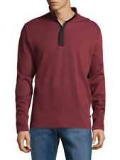 Boss Hugo Boss Cotton Sweater Knit Persano Pullover Zippered Sweatshirt New