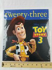 Disney D23 Twenty-Three Magazine Summer 2010 Toy Story Woody & promo 3D glasses