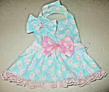 S female Dog dress [bunny feet] cotton handmade