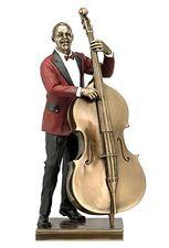 "DOUBLE BASS PLAYER Bronze Statuette JAZZ BAND Collection, 13.25"", Unicorn Studio"