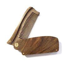 Customize Logo-GoldenSandalWood Folding Comb Hair Beard Care Comb Men Wholesale